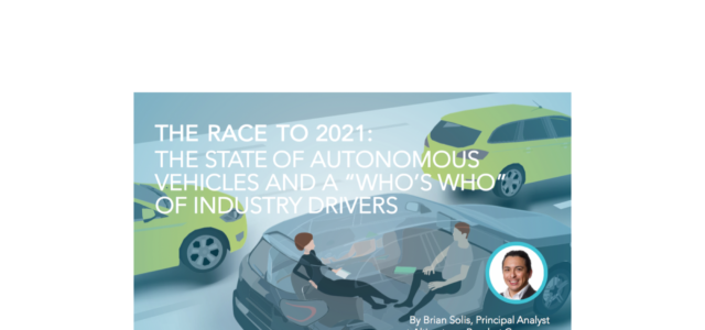 "Featured Image for The State of Autonomous Vehicles: A ""Who's Who"" of Industry Drivers"