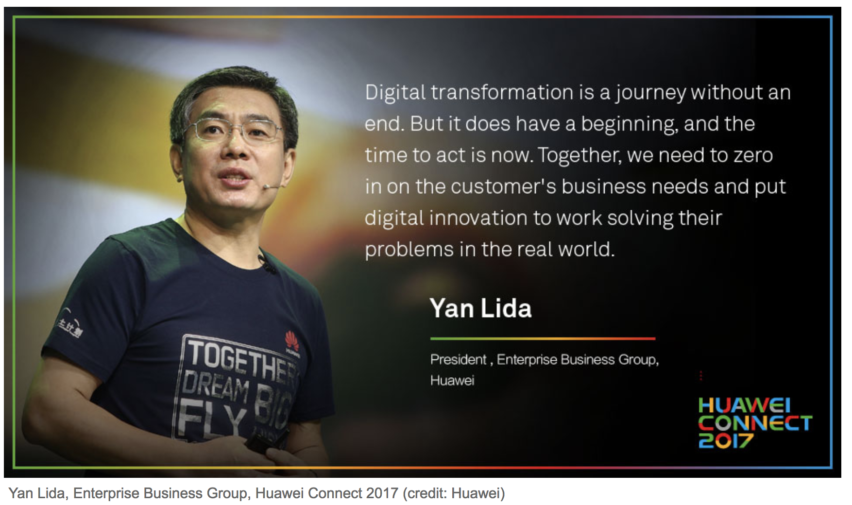Yan Lida, Enterprise Business Group, Huawei