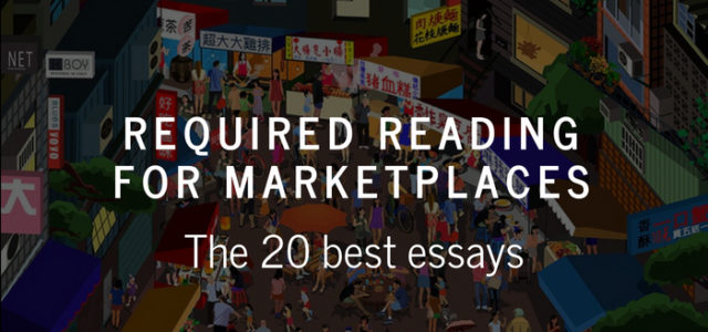 Search Result Image for 'Required reading for marketplace startups: The 20 best essays'
