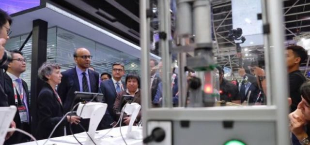Featured Image for Tharman says Fourth Industrial Revolution must create quality jobs as key initiatives are launched at inaugural trade show