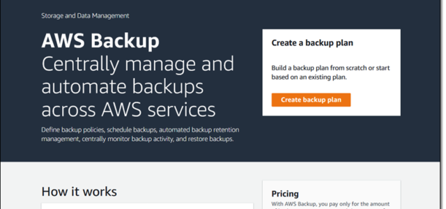 Featured Image for AWS Backup – Automate and Centrally Manage Your Backups