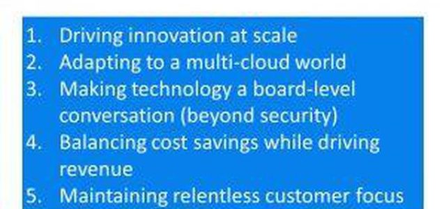 Featured Image for CIOs' Top Trends Include Innovation At Scale, Driving Revenue, Customer Centricity