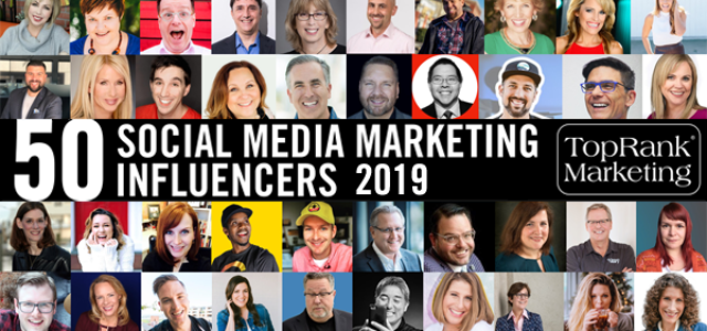 Featured Image for TopRank Marketing's Top 50 Social Media Marketing Influencers for 2019