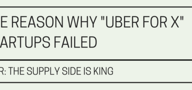 """Search Result Image for 'Why """"Uber for X"""" startups failed: The supply side is king'"""