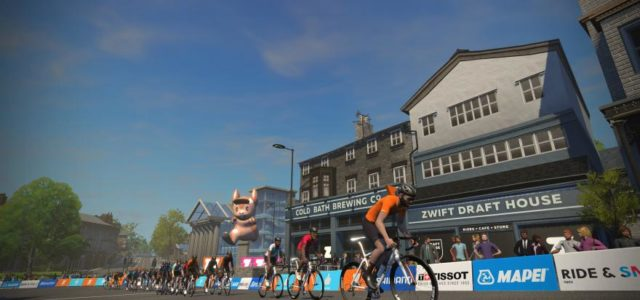 Featured Image for Zwift launches Yorkshire worlds course and steering control for further gamification of indoor training