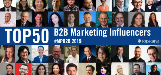 Featured Image for 50 Top B2B Marketing Influencers, Experts and Speakers in 2019 #mpb2b