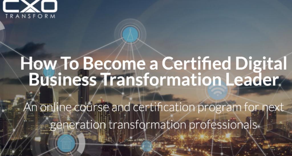 Rob Llewelyn Digital transformation certification training