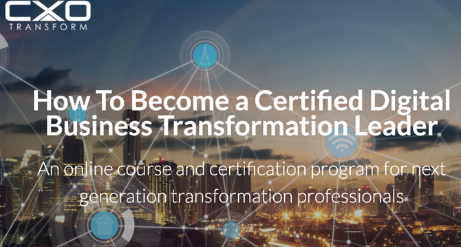 How to become a Certified Digital Transformation Leader