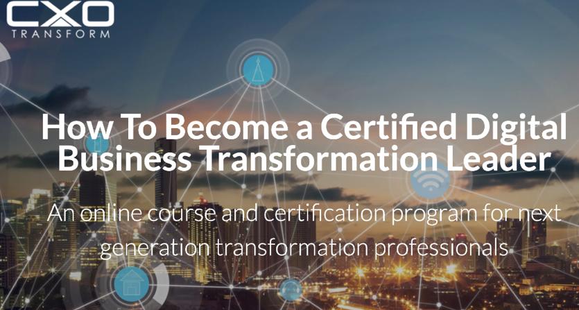 Digital transformation accreditation training course with Rob Llewellyn